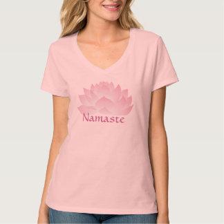 Namaste Lotus Women's Hanes V-neck Tee Shirt