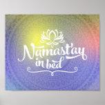Namaste Mandala Funny Quote Poster