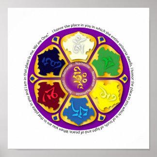Namaste Mandala - purple Posters