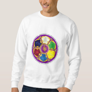 Namaste Mandala - purple Pull Over Sweatshirt