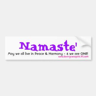 Namaste', mayo todos vivimos en la paz - modificad pegatina de parachoque