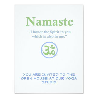 Namaste meaning with Om Symbol Card