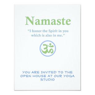 Hindu religion invitations zazzle namaste meaning with om symbol invitation stopboris Choice Image