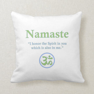 Namaste meaning with Om Symbol Pillow