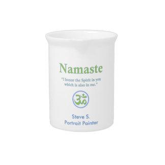 Namaste meaning with Om Symbol Beverage Pitchers
