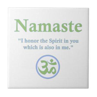 Namaste meaning with Om Symbol Tile