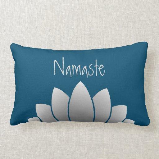 Modern Lotus Pillow : Namaste Modern Lotus Floral Lumbar Pillow Zazzle