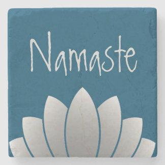 Namaste Modern Lotus Floral Stone Coaster