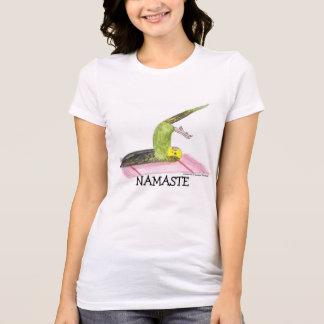 Namaste, Parakeet practicing Yoga T-Shirt