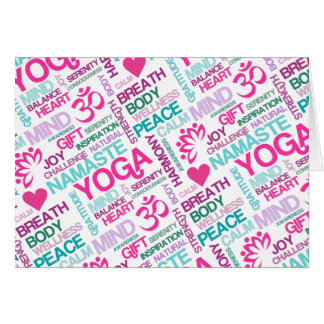 Namaste, Peace and Harmony Pink YOGA Pattern
