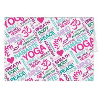 Namaste, Peace and Harmony Pink YOGA Pattern Card