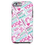 Namaste, Peace and Harmony Pink YOGA Pattern Tough iPhone 6 Case