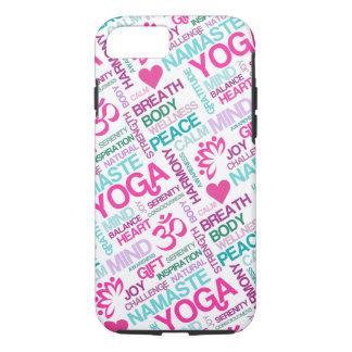 Namaste, Peace and Harmony Pink YOGA Pattern iPhone 7 Case