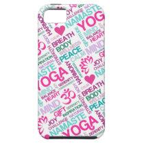 Namaste, Peace and Harmony Pink YOGA Pattern iPhone SE/5/5s Case