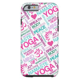 Namaste, Peace and Harmony Pink YOGA Pattern iPhone 6 Case