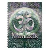 Namaste Peace Symbol Spiral Notebook (<em>$13.70</em>)