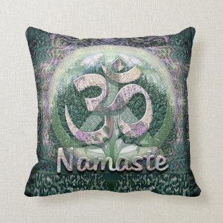 Namaste Peace Symbol Throw Pillow