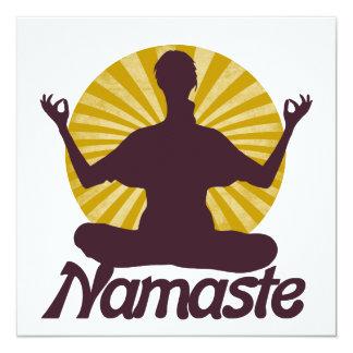 Namaste peaceful meditation card