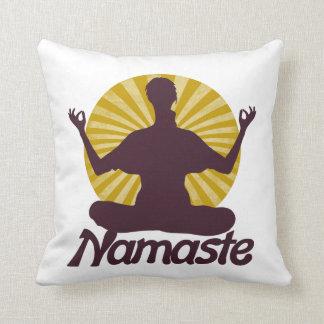 Namaste peaceful meditation throw pillow