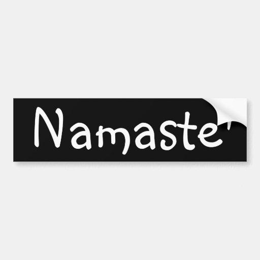 Namaste Pegatina De Parachoque
