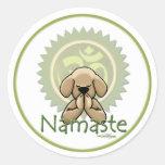 Namaste - pegatinas de la yoga pegatina redonda