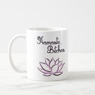 Namaste, perras taza de café