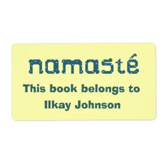 Namaste personalizó Bookplate Etiqueta De Envío