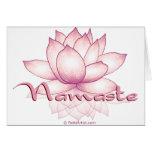 Namaste Pink Lotus Greeting Cards