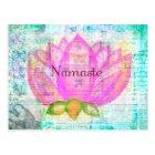 Namaste PINK LOTUS Peaceful Art Postcard