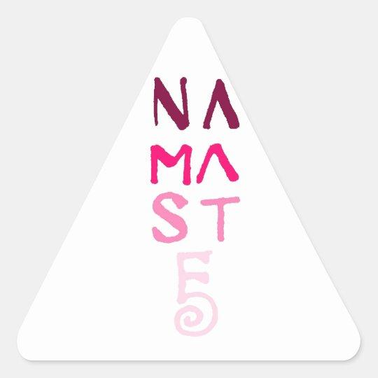 Namaste Pink Triangle Sticker