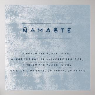 Namaste Póster