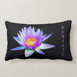 Namaste purple Lotus Lumbar Pillow