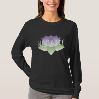 Namaste Purple Lotus Yoga Shirt
