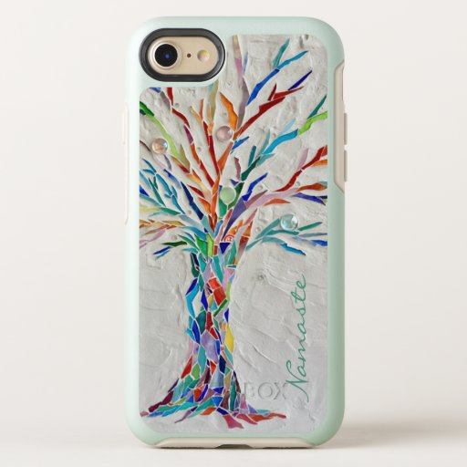 Namaste Rainbow Colors Tree OtterBox Symmetry iPhone SE/8/7 Case