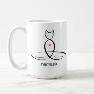 Namaste - Regular style text. Coffee Mug