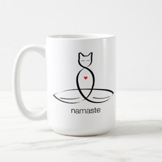 Namaste - Regular style text. Classic White Coffee Mug