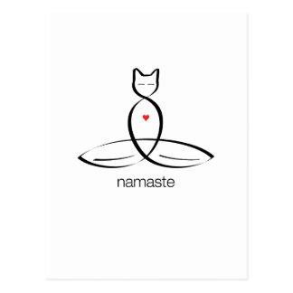 Namaste - Regular style text. Postcard