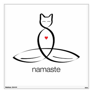 Namaste - Regular style text. Room Sticker