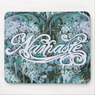 Namaste Script in blue Mouse Pad