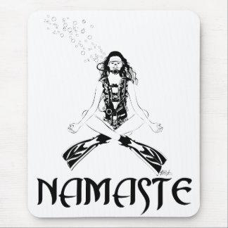 Namaste Scuba Yoga Mouse Pad
