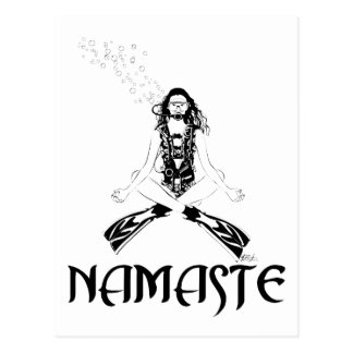 Namaste Scuba Yoga Postcard