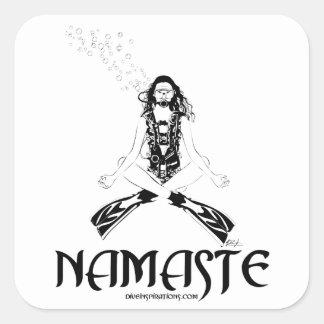 Namaste Scuba Yoga Square Sticker