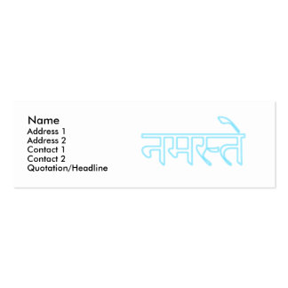 namaste small business card