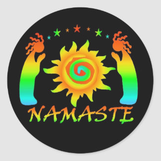 Namaste Stickers
