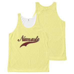 Namaste Stylish Red Burgundy All-Over-Print Tank Top