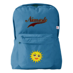 Namaste Stylish Red Burgundy American Apparel™ Backpack