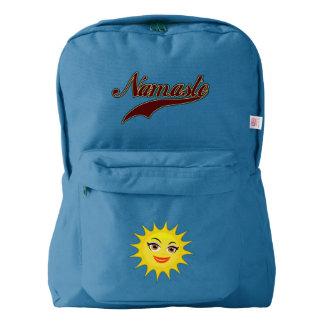 Namaste Stylish Red Burgundy American Apparel™ Backpack