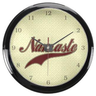 Namaste Stylish Red Burgundy Aqua Clock