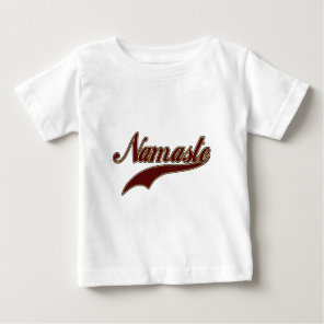 Namaste Stylish Red Burgundy Baby T-Shirt