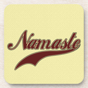 Namaste Stylish Red Burgundy Beverage Coaster